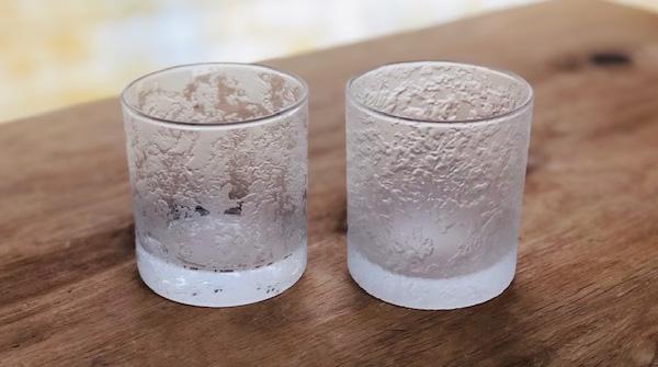 サンドブラストロックグラス